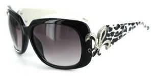 Baton Rouge 1226 Women's Designer Sunglasses with Stylish Patterned Frames with Fleur de Lis Emblem and Large Lenses